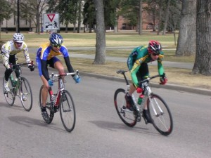 DangeRuss Brown made the break in Tierra Del Sol Road Race.