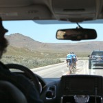 Mechanic Ben drives the pace at Antelope Island TTT practice.