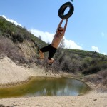 Ben does the tire swing to super deep glory hole.
