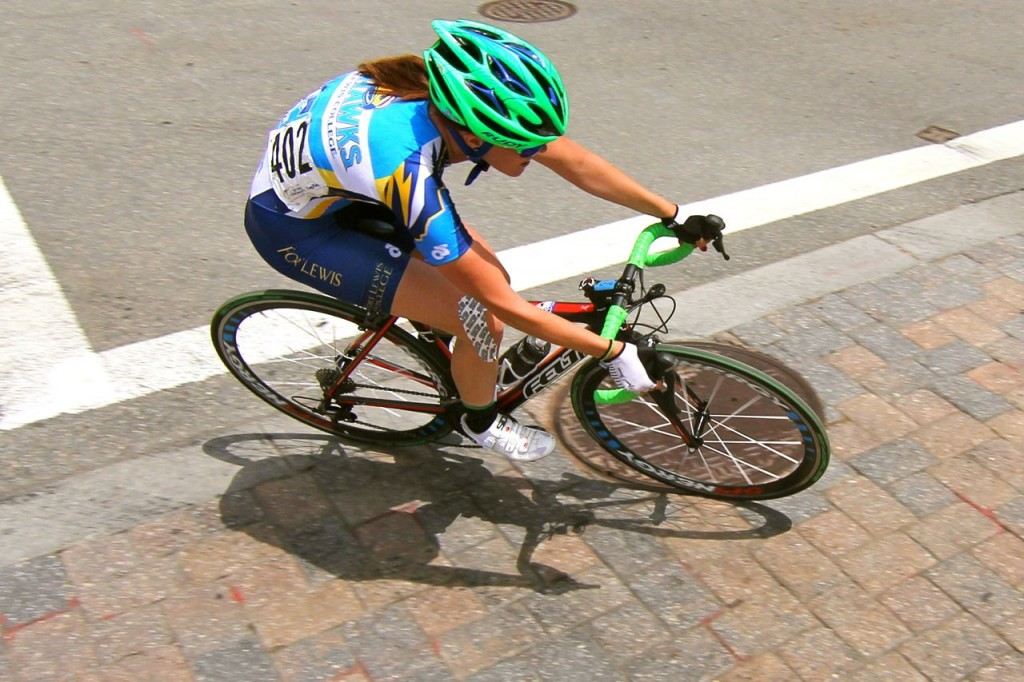 Cool criterium course here in downtown Richmond. Ivie Crawfors led the Skyhawks with a 22nd place finish.